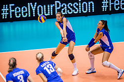 23-08-2017 NED: World Qualifications Greece - Slovenia, Rotterdam<br /> Sloveni&euml; wint met 3-0 / Anthi Vasilantonaki #11 of Greece