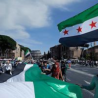 Manifestazione contro regime siriano