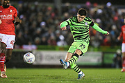 Forest Green Rovers Jack Aitchison(29), on loan from Celtic shoots at goal during the EFL Sky Bet League 2 match between Forest Green Rovers and Swindon Town at the New Lawn, Forest Green, United Kingdom on 21 December 2019.