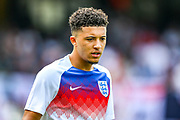 England forward Jadon Sancho (Borussia Dortmund) during the UEFA Nations League 3rd place play-off match between Switzerland and England at Estadio D. Afonso Henriques, Guimaraes, Portugal on 9 June 2019.