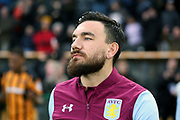 Aston Villa midfielder Robert Snodgrass (7) prior to the EFL Sky Bet Championship match between Hull City and Aston Villa at the KCOM Stadium, Kingston upon Hull, England on 31 March 2018. Picture by Mick Atkins.