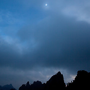 Totality above the mountains at Huangshan, China, 22 July 2009