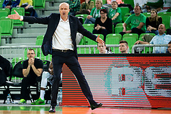 Jure Zdovc, coach of Petrol Olimpija during basketball match between KK Petrol Olimpija and KK Rogaska in Round #5 of Liga Nova KBM za prvaka 2018/19, on March 31, 2019, in Arena Stozice, Ljubljana, Slovenia. Photo by Vid Ponikvar / Sportida