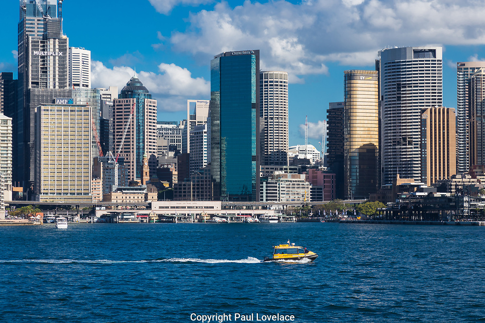 Views of Sydney cityscape from Kirribilli, Sydney, Australia.