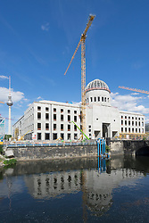 Construction of new reconstructed Berlin Palace or Berliner Schloss on Museum island in Mitte Berlin Germany