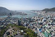 Yongdusan Park. View from Busan Tower.