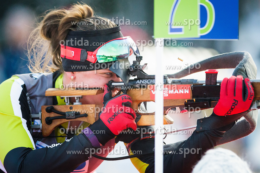 Reka Forika (ROU) during Women 7,5 km Sprint at day 2 of IBU Biathlon World Cup 2015/16 Pokljuka, on December 18, 2015 in Rudno polje, Pokljuka, Slovenia. Photo by Ziga Zupan / Sportida