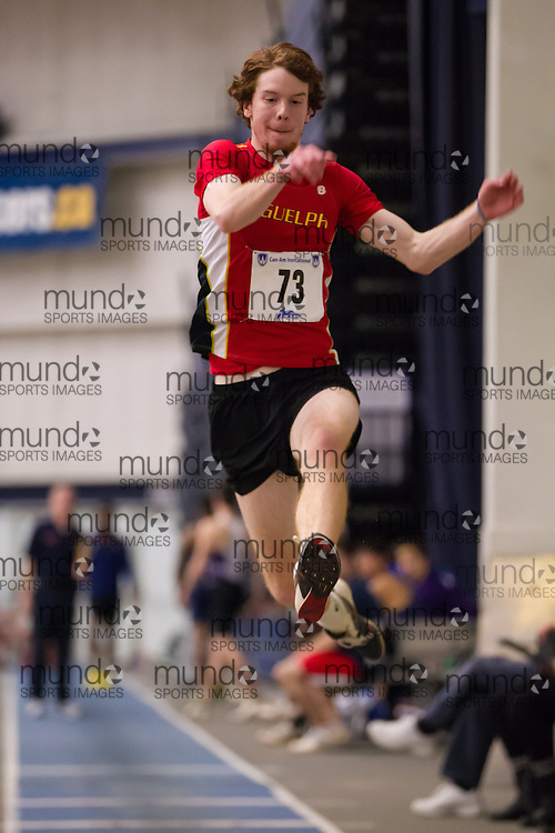 Matt Fontanna of the University of Guelph  competes at the 2014 CanAm Track and Field meet in Windsor Ontario, Saturday,  January 11, 2014.<br /> Mundo Sport Images/ Geoff Robins