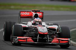 MELBOURNE, AUSTRALIA - Saturday, March 28, 2009: Jenson Button (McLaren) during the Australian Grand Prix at the Melbourne Grand Prix Circuit. (Pic by Juergen Tap/Propaganda/Hoch Zwei)