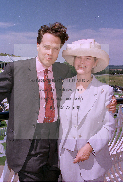 The EARL & COUNTESS OF MARCH, he is the son of the Duke of Richmond, at a race meeting in Sussex on 29th July 1997.MAS 26