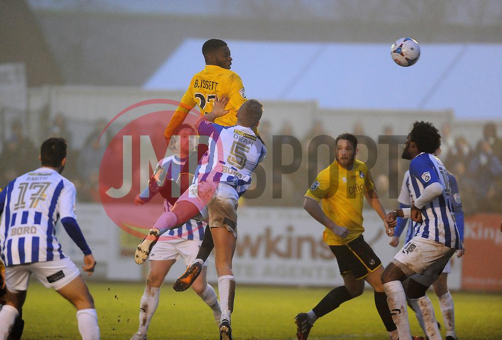 Bristol Rovers' Nathan Blissett  heads the second goal - Photo mandatory by-line: Neil Brookman/JMP - Mobile: 07966 386802 - 04/01/2015 - SPORT - football - Nuneaton - James Parnell Stadium - Nuneaton Town v Bristol Rovers - Vanarama Conference