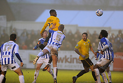 Bristol Rovers' Nathan Blissett  heads the second goal - Photo mandatory by-line: Neil Brookman/JMP - Mobile: 07966 386802 - 04/01/2015 - SPORT - football - Nuneaton - James Parnell Stadium - Nuneaton Town v Bristol Rovers - Vanarama Conference