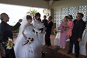 Miyako-jima. Maehama - Japan's most beautiful beach. Wedding of Masatoshi and Fukiko at Miyakojima Tokyu Resort.