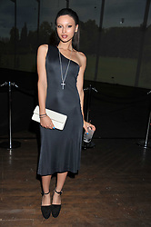 LEAH WELLER at a dinner hosted by Calvin Klein Collection to celebrate the future Home of The Design Museum at The Commonwealth Institute, Kensington, London on 13th October 2011.