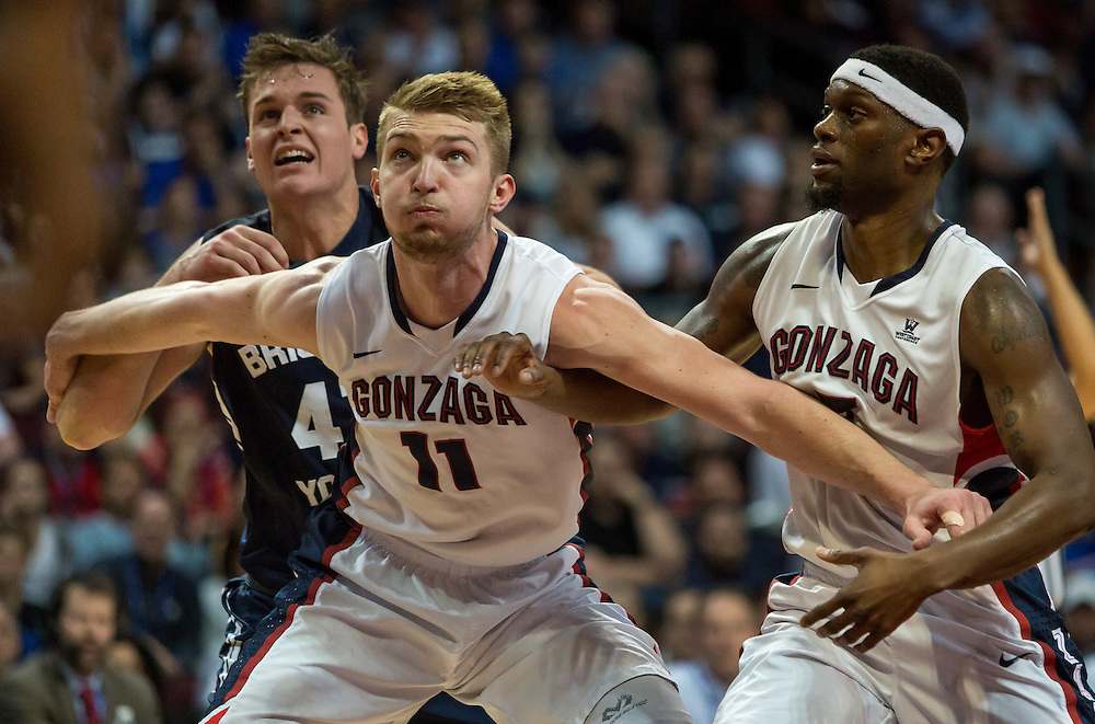 The Gonzaga mens basketball team took on the BYU Cougars for the final game of the WCC Tournament. The Zags beat the Cougars 91-75 to clinch the 2015 WCC title in the Orleans Arena in Las Vegas, NV.
