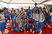 Angelo Gigli e Fabio Di Bella al Pincio per il Jamboree di minibasket di Roma
