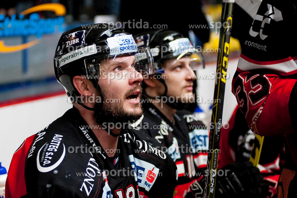 22.03.2016, Ice Rink, Znojmo, CZE, EBEL, HC Orli Znojmo vs EHC Liwest Black Wings Linz, Halbfinale, 5. Spiel, im Bild Roman Tomas (HC Orli Znojmo) // during the Erste Bank Icehockey League 5th semifinal match between HC Orli Znojmo and EHC Liwest Black Wings Linz at the Ice Rink in Znojmo, Czech Republic on 2016/03/22. EXPA Pictures © 2016, PhotoCredit: EXPA/ Rostislav Pfeffer
