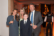OCTAVIA SEYMOUR; ANYA HINDMARCH; FELIX SEYMOUR; JAMES SEYMOUR, The 2012 Veuve Clicquot Business Woman of the Year Award .  Celebrating women's excellence in business.  Claridge's, Brook Street, London, 18 April 2012