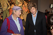 MICHAEL HOROVITZ; LEO JOHNSON, Exhibition opening of paintings by Charlotte Johnson Wahl. Mall Galleries. London, 7 September 2015.