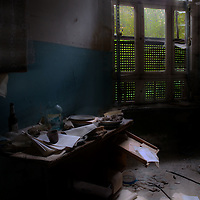 An old office in an old mental hospital. After the war the Soviets took it over.