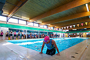 Mildenhall, Suffolk. Mildenhall Triathlon Festival at Mildenhall Swimming Pool and around the town. <br /> <br /> Picture: MARK BULLIMORE
