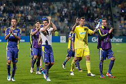 Team NK Maribor during Play-offs for Champions League between NK Maribor (Slovenia) and GNK Dinamo Zagreb (Croatia), on August 28, 2012, in Maribor, Slovenia. (Photo by Urban Urbanc / Sportida.com)
