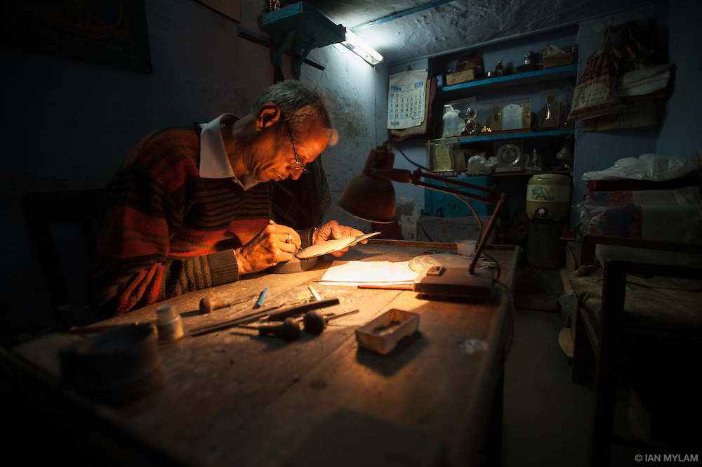 The Engraver - Chandni Chowk, Old Delhi, India