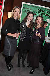 Left to right, CATHERINE TAYLOR, SOPHIE STEVENS and SANDRA CRONAN at a party to celebrate the publication of The Impossible Collection of Jewelry by Vivienne Becker hosted by Assouline and Bulgari at the Bulgari Hotel, 171 Knightsbridge, London on 17th January 2013.