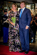 3-4-2017 Tilburg - King Willem-Alexander, Her Majesty Queen Maxima and Her Royal Highness Princess Beatrix are Monday April 3, 2017 attended the Koningsdagconcert in Theaters Tilburg.<br /> The starting point for Koningsdagconcert to create an accessible and varied program where classical music plays an important role. COPYRIGHT ROBIN UTRECHT<br /> 3-4-2017 TILBURG - Koning Willem-Alexander, Hare Majesteit Koningin Maxima en Hare Koninklijke Hoogheid Prinses Beatrix zijn maandagavond 3 april 2017 aanwezig bij het Koningsdagconcert in Theaters Tilburg.<br /> Het uitgangspunt voor het Koningsdagconcert is een toegankelijk en gevarieerd programma samen te stellen waarin de klassieke muziek een belangrijke rol speelt. COPYRIGHT ROBIN UTRECHT
