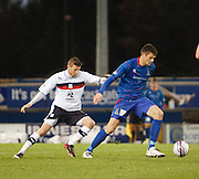 Inverness Caledonian Thistle's Owain Tudur-Jones  and Dundee's Iain Davidson - Inverness Caledonian Thistle v Dundee, Clydesdale Bank Scottish Premier League at Tulloch Caledonian Stadium, Inverness.. - © David Young - www.davidyoungphoto.co.uk - email: davidyoungphoto@gmail.com