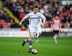 SHEFFIELD, ENGLAND - Saturday, March 17, 2012: Tranmere Rovers' Jake Cassidy, making his debut for the club after joining on-loan from Wolverhampton Wanderers, in action against Sheffield United during the Football League One match at Bramall Lane. (Pic by David Rawcliffe/Propaganda)