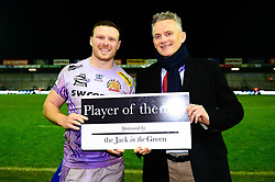 Man of the match - Mandatory by-line: Dougie Allward/JMP - 23/11/2019 - RUGBY - Sandy Park - Exeter, England - Exeter Chiefs v Glasgow Warriors - Heineken Champions Cup