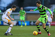 Forest Green Rovers Christian Doidge(9) on the ball during the EFL Sky Bet League 2 match between Forest Green Rovers and Port Vale at the New Lawn, Forest Green, United Kingdom on 6 January 2018. Photo by Shane Healey.