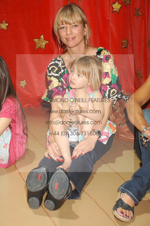 Radio presenter SARA COX and her daughter LOLA at a children's ballet workshop and tea party to celebrate the world premiere of 'Angelina's Star Performance' Angelina Ballerina's first real life ballet hosted by the National Ballet at the New Wimbledon Theatre, London SW19 on 6th September 2007.<br />