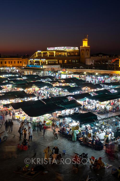 Jemaa el-Fnaa Square, Marrakech, Morocco.