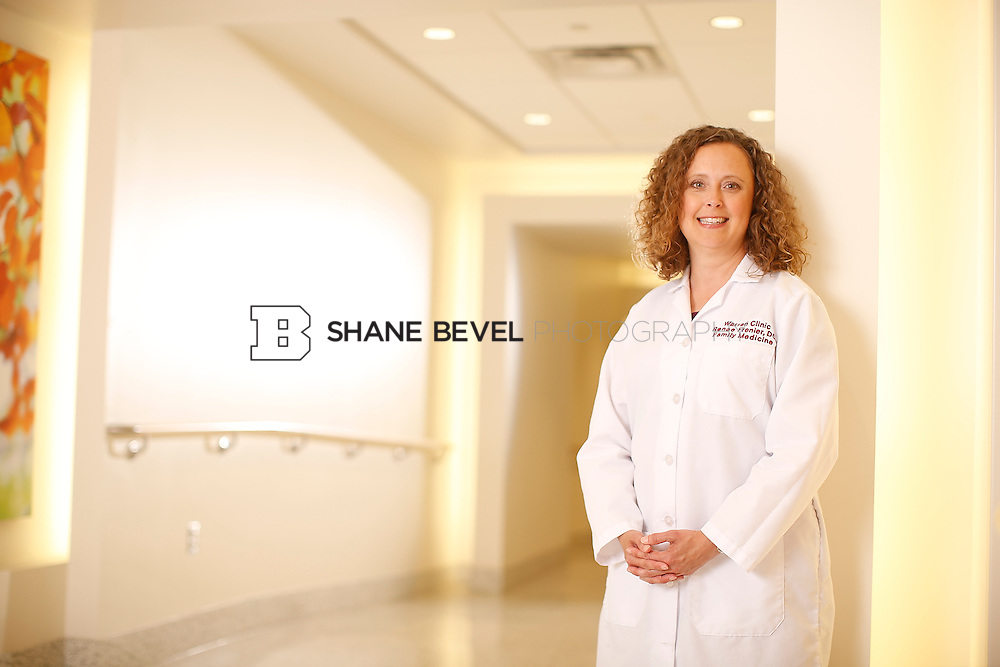 5/28/15 4:22:06 PM -- Dr. Renee Frenier of Saint Francis Health System poses for a portrait for the 2015 Advertising Campaign. <br /> <br /> Photo by Shane Bevel