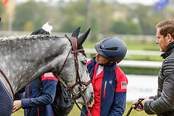 HALLIDAY-SHARP Elisabeth (USA), FLASH COOLEY<br /> Le Lion d'Angers - Eventing World Breeding Championship 2019<br /> Impressionen am Rande<br /> Teilprüfung Springen 7 jährige<br /> 20. Oktober 2019<br /> © www.sportfotos-lafrentz.de/Stefan Lafrentz