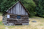 "This building is called ""The Forge"".  This is the oldest farm building at Ruckle Farm and was constructed by Henry Ruckle in 1878.  Photographed in Ruckle Provincial Park on Saltspring Island, British Columbia, Canada."