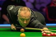 Day 3 of the 19.com World Snooker Home Nations Scottish Open. Action from the afternoon session John Higgins Vs Alexander Ursenbacher during the World Snooker Scottish Open at the Emirates Arena, Glasgow, Scotland on 11 December 2019.