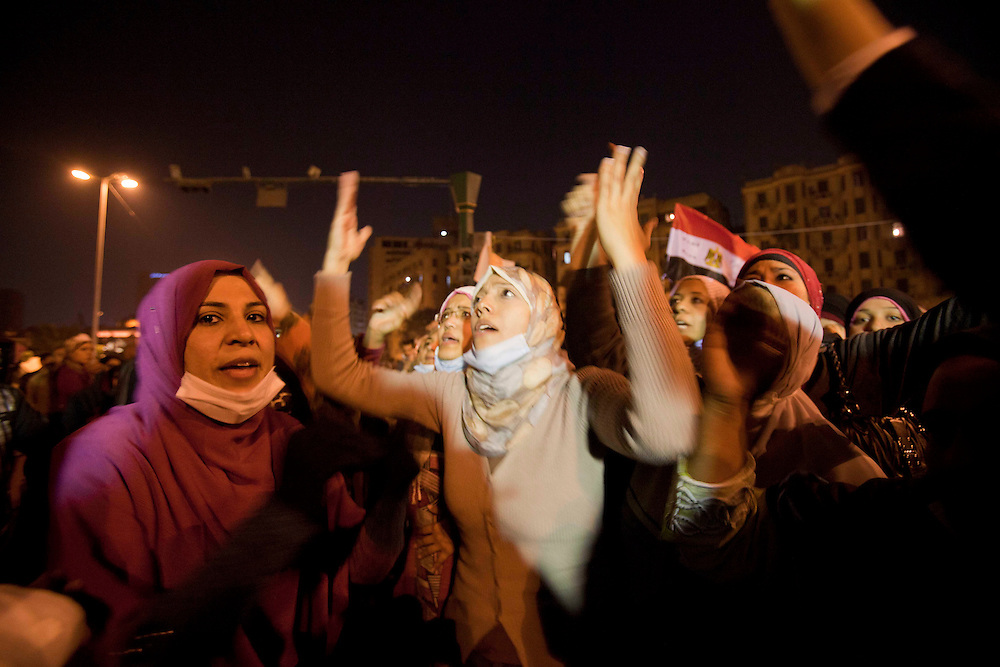 women demostrate in Tahrir Square on November 23, 2011 photo by: Maya Levin