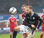 Dundee's Martin Boyle and Aberdeen&rsquo;s Jonathan Hayes -  Dundee v Aberdeen, William Hill Scottish FA Cup 4th round at Dens Park<br /> <br />  - &copy; David Young - www.davidyoungphoto.co.uk - email: davidyoungphoto@gmail.com