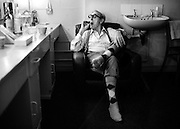 Eric Sykes backstage Liverpool theatre