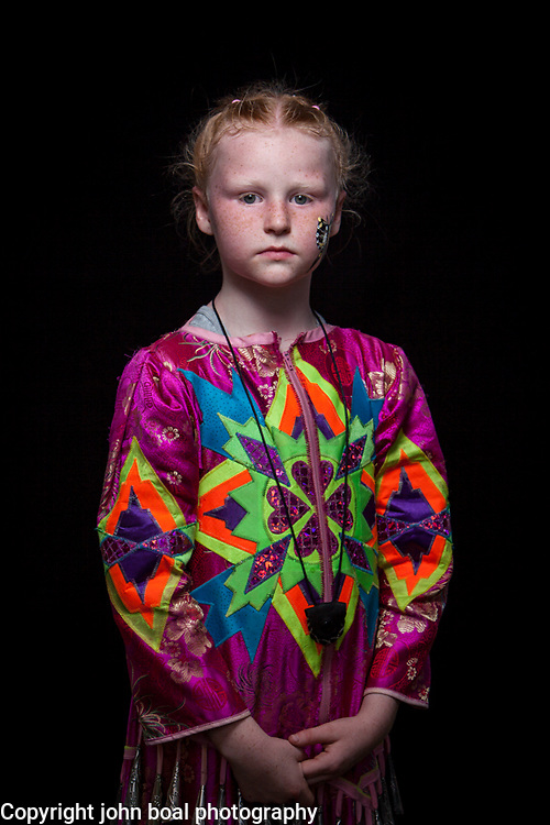 Victoria (Tori) Peters, Monacan.  Portraits at the Monacan Powwow.  Elon, VA.  Saturday, May 16, 2015.  John Boal Photography