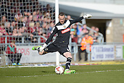 Notts County Goalkeeper Scott Loach during the Sky Bet League 2 match between Northampton Town and Notts County at Sixfields Stadium, Northampton, England on 2 April 2016. Photo by Dennis Goodwin.