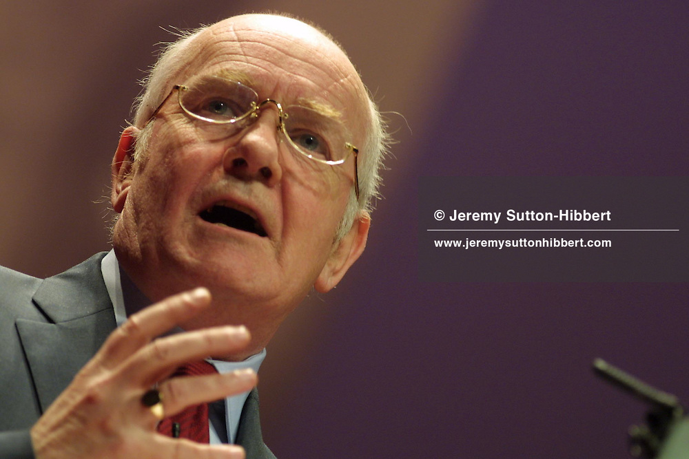 John Reid of the British Labour Party, in Glasgow, Scotland, 16th February, 2003.