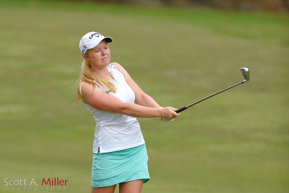Stephanie Meadow during the third round of the Symetra Tour Championship at Alaqua Country Club in Longwood, Florida on Oct. 15, 2016 .<br /> <br /> &copy;2016 Scott A. Miller