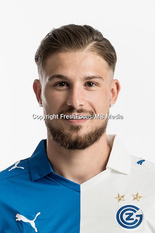 06.07.2016; Niederhasli; Fussball Super League -  Grasshopper Club Zuerich;<br />Manuel Kubli (GC)<br />(Christian Beutler/Keystone/freshfocus)