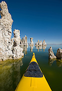 Kayaking among the tufas on Mono Lake, Lee Vining area, October, 2009