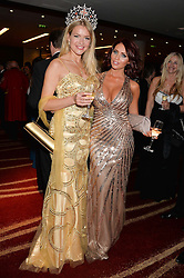Left to right, Miss England KIRSTY HESLEWOOD and AMY CHILDS at the Soldiering On Awards held at the Park Plaza Hotel, Westminster Bridge, London on 5th April 2014.