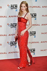 © Licensed to London News Pictures. 14/10/2016.  WLLIW BAMBER attends the Nocturnal Animals film premiere of as part of the London Film Festival. London, UK. Photo credit: Ray Tang/LNP